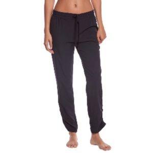 Marika Black Yoga Pants Ruched Hem Lightweight